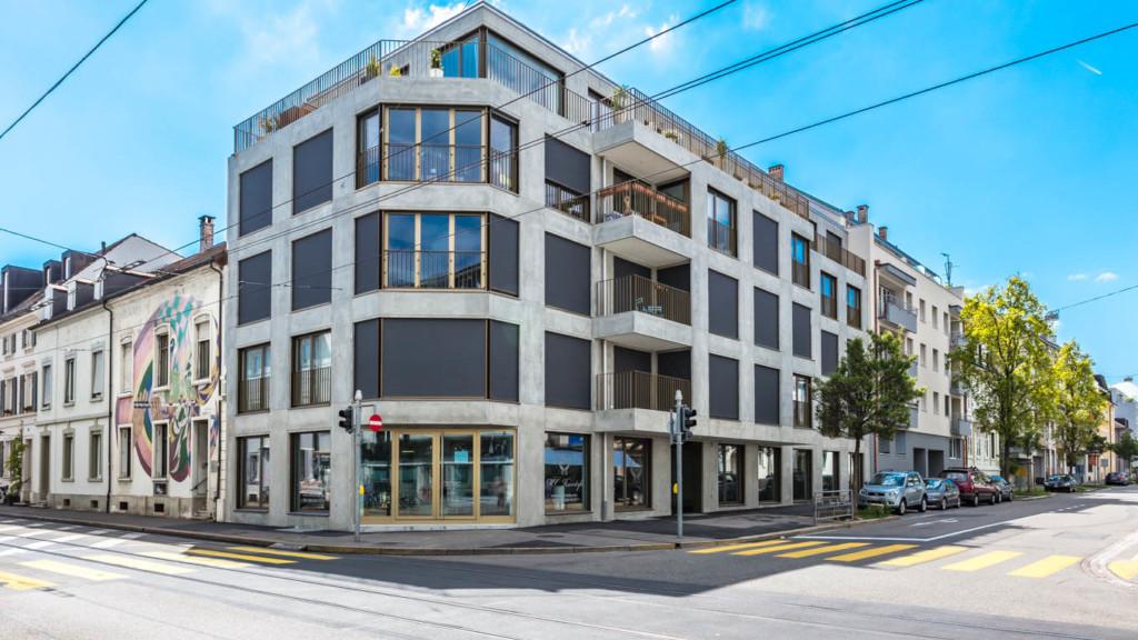 Neubau mehrfamilienhaus leimenstrasse basel nzag for Architektur basel